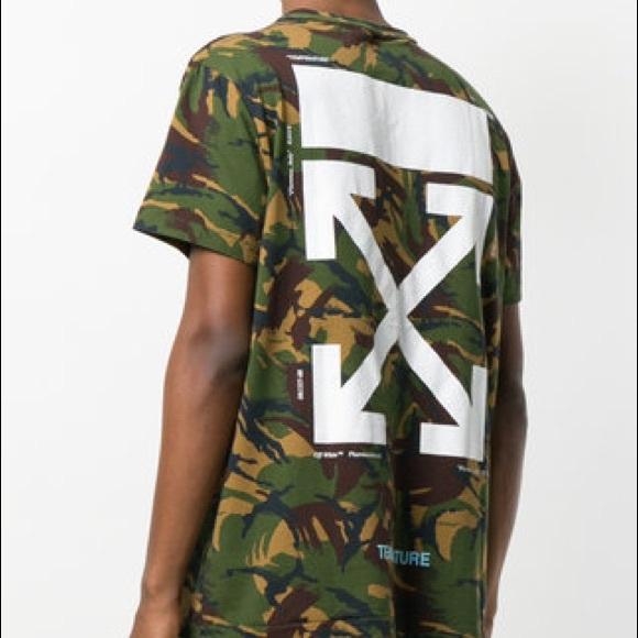 Off White Shirts Off White Temperature Camouflage T Shirt Poshmark